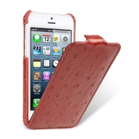 Чехол Melkco для iPhone 5C Leather Case Jacka Type Ostrich Print pattern - Red