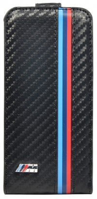 Чехол BMW для iPhone 5s M - Collection Flip Carbon effect
