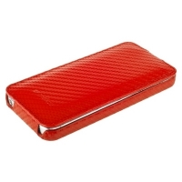 Чехол Melkco для iPhone 5C Leather Case Jacka Type Carbon Fiber Pattern - Red
