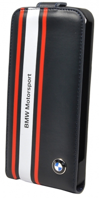 Чехол BMW для iPhone 5s Motorsport Flip Navy Blue