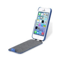 Чехол Melkco для iPhone 5C Leather Case Jacka Type Carbon Fiber Pattern - Blue