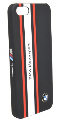 Чехол BMW для iPhone 5s Motorsport Hard Rubber Navy blue