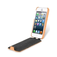 Чехол Melkco для iPhone 5C Leather Case Jacka Type Ostrich Print pattern - Orange