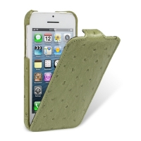 Чехол Melkco для iPhone 5C Leather Case Jacka Type Ostrich Print pattern - Olive Green