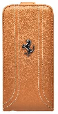 Чехол Ferrari для iPhone 5s Flip FF-Collection Camel