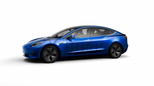 Tesla Model 3 Long Range Battery Blue Metallic