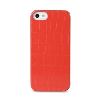 Накладка кожаная Melkco для iPhone 5C Leather Snap Cover Crocodile Print Pattern - Red