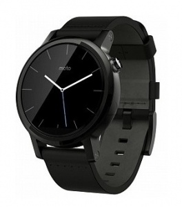 Купить Motorola Moto 360 v2 42mm (Black Leather)
