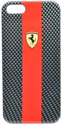Чехол Ferrari для iPhone 5s HardCarbon-Red