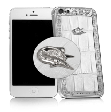 Купить CAVIAR iPhone 5S Unico Perla Alligatore Diamante