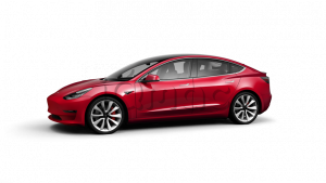 Tesla Model 3 Long Range Battery Red