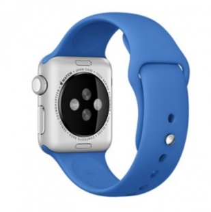 Apple Watch Sport 38 мм, серебристый алюминий, спортивный ремешок цвета «кобальт»